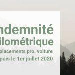 Indexation de l'indemnité kilométrique pour les déplacements professionnels au premier juillet 2020